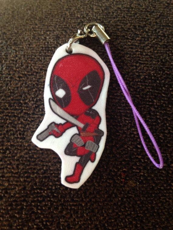 """Deadpool 1""""Keychain/CellPhone Charms"""