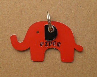 Elephant Pet Tag Dog ID Metal Jungle Animal