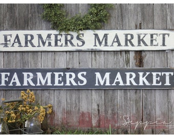 Handpainted Rustic Sign, Farmers Market