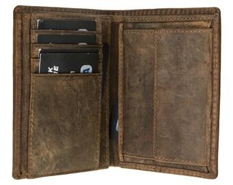 Men Wallet Genuine Leather Designer, Unique Gift Wallets for Him, Gifts for Men Wallet in Stylish AnticBrown Leather 4