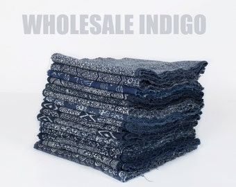 Wholesale Hill Tribe Indigo Fabric, Hill Tribe Fabric Cotton, Hmong Fabric, Blue Fabric - Indigo Table Runner Hmong Batik Ethnic Thai Fabric