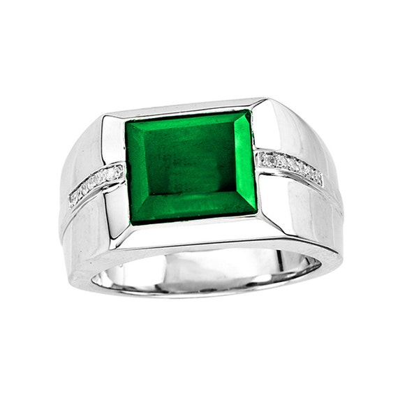 emerald signet ring sterling silver signet ring s
