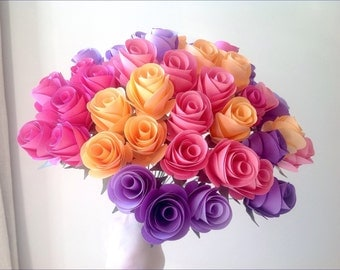Colour burst rose bouquet