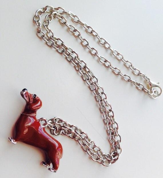 Dashound | Daschund | Sausage Dog | Dog | Enamelled | Necklace