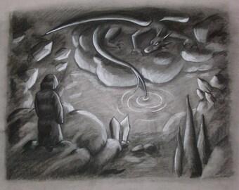 I Trusted You-- Charcoal Print