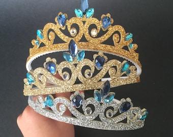 Elsa Crown,Cinderella Crown,Frozen Elsa Headband,disney princess crown,Princess headband,Princess Crown,disney crown,blue crown,elsa,crown