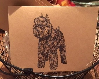 Brussels Griffon Art Vintage Style Note Card