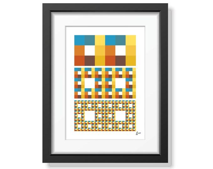 Fractal rectangles 04 [mathematical abstract art print, unframed] A4/A3 sizes