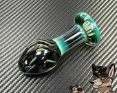Glass Butt Plug (Small, Emerald Green Mix)
