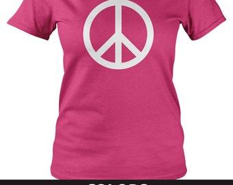 "Women's Adult T-shirt: ""Peace Sign"""