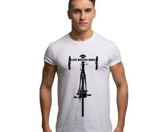 Men's Road Bike Cycling T Shirt Racing Bikes Life Behind Bars T Shirt