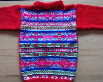 104/5T-fair isle Red