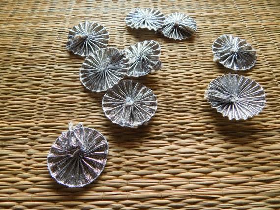 Floral appliques gota ribbon flowers ethnic embellishments - Appliques flos ...