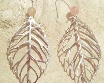 "Earrings ""autumn"" with semi precious gemstone bead"