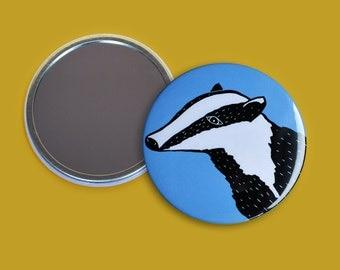 Blue Badger Pocket Mirror