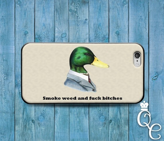 iPhone 4 4s 5 5s 5c SE 6 6s 7 plus iPod Touch 4th 5th 6th Gen Cool Duck Bird Hipster Hip Dope 420 Custom Phone Cover Funny Cute Adult Case