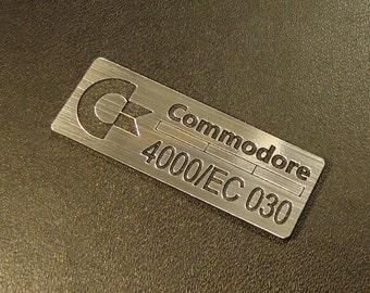 Commodore Amiga 4000/EC 030 Label / Logo / Sticker / Badge 42 x 15 mm [271b]