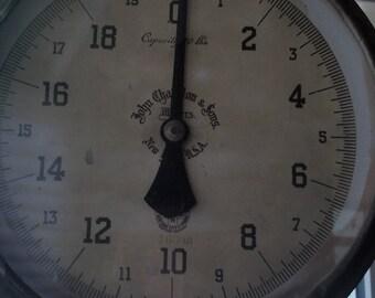 Vintage New York Chatillon Hanging Peddler's Scale