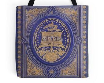 The Shipwreck Book Cover Tote Bag