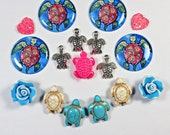 Turtle Cabs with Gems and Flowers