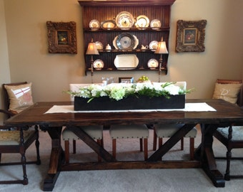 Custom made farm table 8'