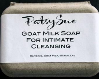 Unscented Intimate Cleansing Wash Bar.  Goat Milk Feminine Hygeine Intimate Cleanser Wash. Paraben Free & Fragrance Free.  FREE SHIPPING
