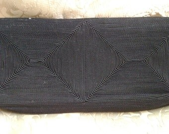1940s Corde Clutch Purse/ Evening Bag/ Small Clutch/ Art Deco Design Rayon Gimp/ Cord/ Korday