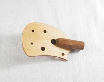 Walnut ocarina  - 4 hole whistle - pentatonic