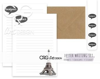 Paris Letter Writing Set | Snailmail Penpals Stationery