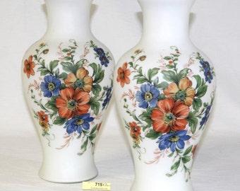 Bristol Mantel Vases - Pair of