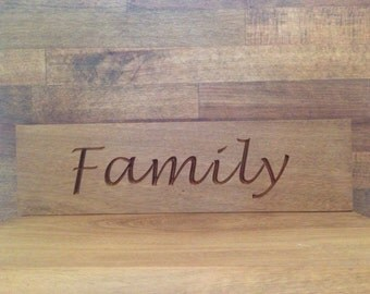Familly Plaque