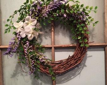 Hydrangea Grape Vine Wreath