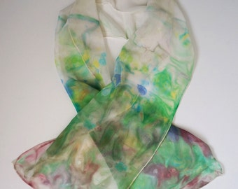 Spring colors Chiffon Silk Scarf