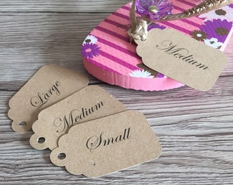 10x Flip flop tags for Wedding baskets