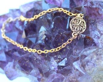 Gold Mandala Bracelet