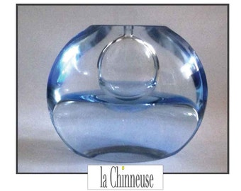 VINTAGE GLASS VASE Soliflore /Vase Vintage blown glass Scandinavian Design.