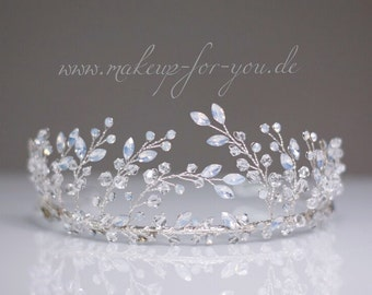 Bridal crown, bridal tiara, wedding crown, crystal crown