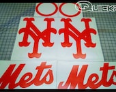 New York Mets Orange Cornhole Board Decal Set 6pc Full SIze Professional Quality Outdoor Kit
