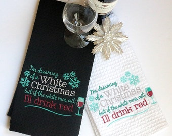 Red Will Do Christmas Kitchen towel gift for 10 dollars
