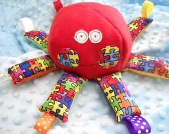 Autism Awareness Tag Octopus
