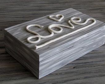 Wooden box - Love
