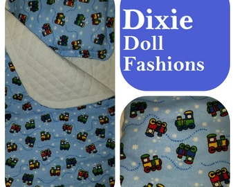 "Dixie-crafted Choo-Choo Sleeping Bag is designed to fit 18"" Dolls including those from the American Girl Company"