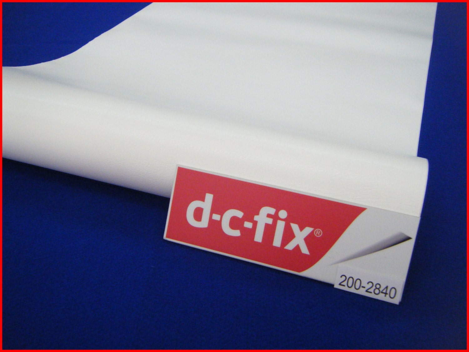 dc fix white leather 1m x 45cm sticky back self adhesive. Black Bedroom Furniture Sets. Home Design Ideas