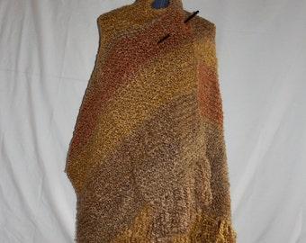 Sandstone Knit Shawl/Prayer Shawl