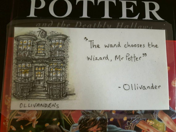 Ollivanders Fridge Magnet The wand chooses the by ...