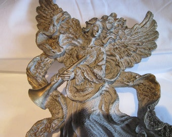 Vintage Angel musician resin / Vintage Angel musician in resin