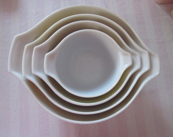 Vintage set of Pyrex forest Cinderella bowls / Vintage Together of forest Cinderella Pyrex bowls