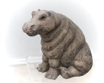 Stone Hippo sculpture.