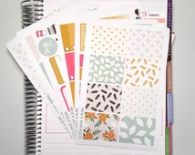 Vintage Flower Kit Planner Stickers for Erin Condren, Happy Planner, Filofax, Scrapbooking