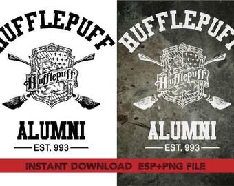 Hufflepuff Alumni Clip Art,T shirt, iron on , sticker, Vectors files ,Personal Use